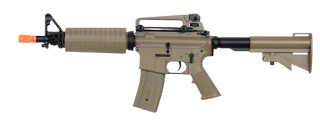 Golden Eagle JG F6671TAN Super Enhanced M4 Commando AEG Metal Gear, Polymer Body in Tan
