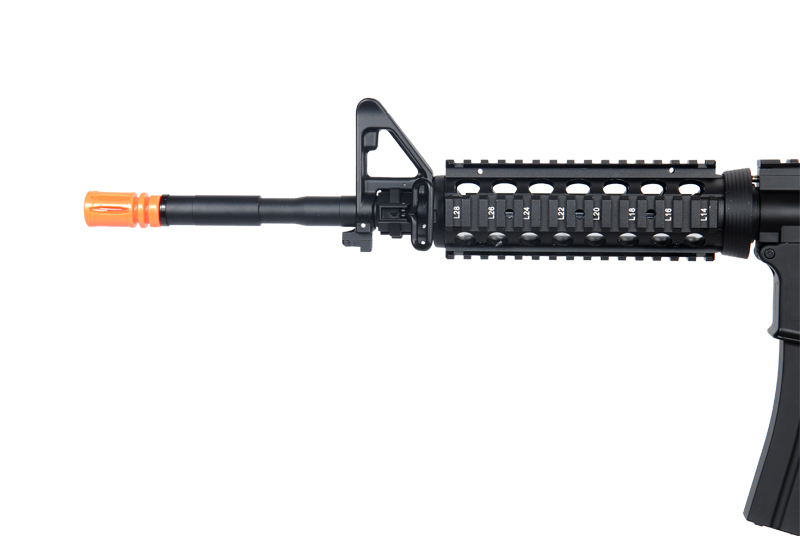 Golden Eagle JG F6672 Super Enhanced M4 SOPMOD RIS AEG Metal Gear, Polymer Body, Rail Covers in Black - Click Image to Close