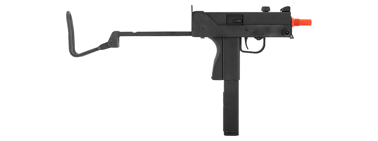 Well G11 MAC-11 SMG Gas Powered Pistol with Silencer, Folding Stock - Semi and Auto
