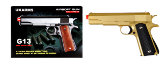 UKARMS G13G Metal Spring Pistol, Gold
