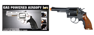 HFC HG-131B Gas Powered Revolver Pistol in Black