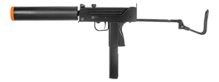 HFC HGA-2033 MAC-11 SMG Gas Powered Pistol w/ Silencer, Folding Stock