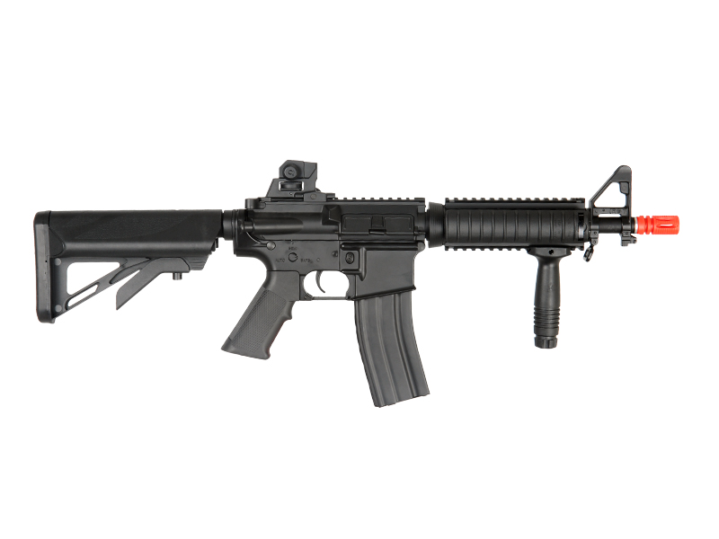 ICS-127 R.I.S. CRANE STOCK FULL METAL AEG (COLOR: BLACK)