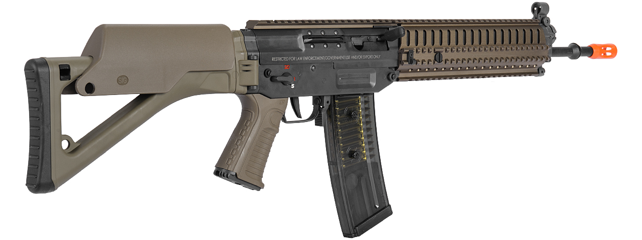 ICS AIRSOFT SIG 551 AEG MODULAR RAIL SYSTEM FULL METAL - DARK EARTH - Click Image to Close