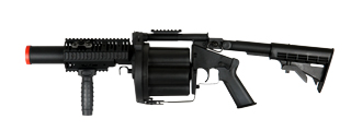 ICS ICS-192 Multiple Grenade Launcher, Long Version, Black