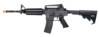 ICS AIRSOFT M4A1 AEG ASSAULT CARBINE RIFLE W/ LE STOCK - BLACK
