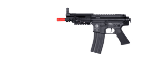 ICS AIRSOFT CQB PISTOL AEG FULL METAL RIS GAS BLOCK - BLACK