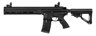 ICS-293 PAR MK3 CQB MTR FULL METAL AEG (REAR WIRED) 12.5 INCH RAIL VERSION (COLOR: BLACK)