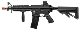 ICS AIRSOFT M4 AEG W/ RIS CRANE STOCK ELECTRIC BLOWBACK - BLACK
