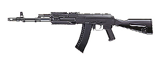AK 74 RIS fixed stock / tactical RIS handgurard / 1 MAG / NO BATT+CHGR
