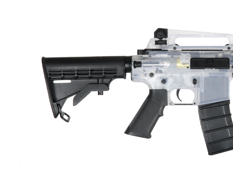 ICS ICS-41W M4A1B, Clear Plastic Body - Click Image to Close
