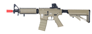 ICS ICS-47TAN M4 CQB Plastic Body RIS AEG, Crane Stock, Tan