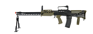 ICS-86 L86 A2 FULL METAL AEG (COLOR: OD GREEN & BLACK)