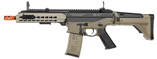 ICS-IMD-230-1 CXP-APE KEYMOD HANDGUARD FULL METAL AEG, SHORT BARREL TWO-TONE VERSION (COLOR: BLACK & TAN)