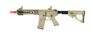 ICS CXP UK1 TRANSFORM4 EBB KEYMOD AIRSOFT M4 AEG RIFLE SHORT - TAN