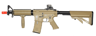 ICS M4 RIS COMMANDO SPORTLINE AIRSOFT AEG RIFLE W/ CRANE STOCK - TAN