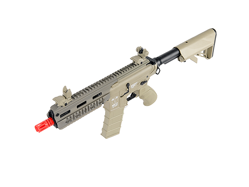 ICS CXP-16S SHORT SPORTLINE M4 RIS CQB AIRSOFT AEG RIFLE - TAN