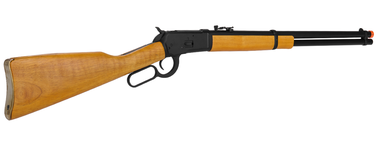 IU-1892A LEVER ACTION GAS POWERED RIFLE w/REAL WOOD STOCK