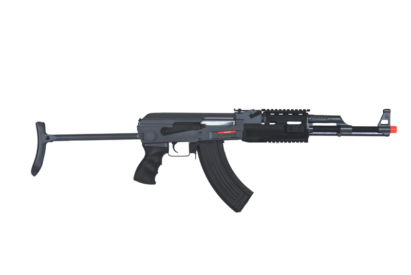 IU-AK47S-NB TACTICAL AK47 RIS AEG w/ METAL FOLDING STOCK (BK), NO BATTERY/CHARGER