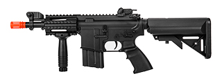 IU-CQB5-NB STUBB M4 CQB w/CRANE STOCK FULL METAL AEG (COLOR: BLACK)