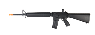 A&K IU-M16-NB M16 RIS AEG Metal Gear, Full Metal Body, Fixed Stock, Black