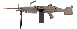 IU-M249 MKII-T FULL METAL AIRSOFT MACHINE GUN w/BOX MAGAZINE (COLOR: DARK EARTH)