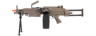 IU-M249 PARA-T FULL METAL AIRSOFT MACHINE GUN w/BOX MAGAZINE (COLOR: DARK EARTH)