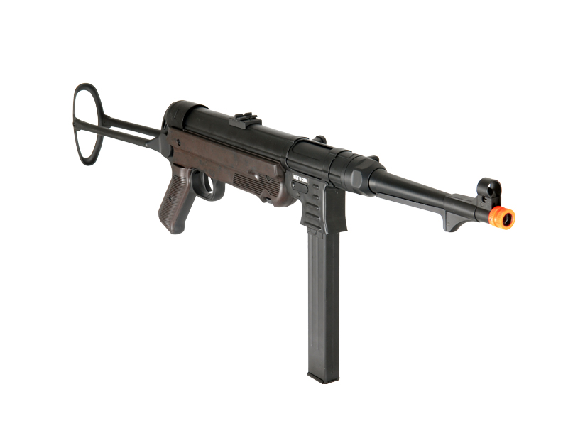 IU-M40P WWII MASCHINENPISTOLE MP40 FULL METAL AEG AIRSOFT GUN (BLACK & BROWN)