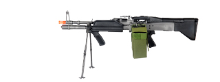 A&K IU-MK43-NB MK43 AEG Metal Gear, Full Metal Body, Integrated Bipod