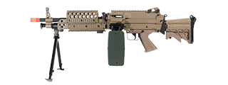 A&K IU-MK46T-NB M249 MK46 SPW FULL METAL AIRSOFT MACHINE GUN (COLOR: DARK EARTH)