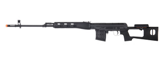 A&K IU-SVDB AK Spring Rifle w/ Removable Cheek Rest in Black