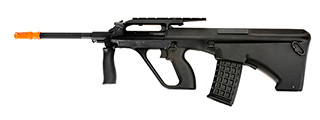 JG JG0448A AUG Civilian AEG Metal Gear, Metal Upper Receiver, Polymer Body, Folding Forward Grip