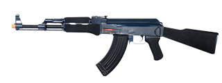 Golden Eagle JG0506BMG AK-47 AEG Metal Gear, Polymer Body in Black/Blue