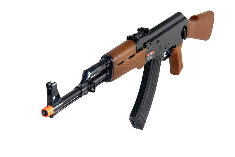 JG FULL METAL GEARBOX AK47 AIRSOFT AEG RIFLE - IMITATION WOOD - Click Image to Close