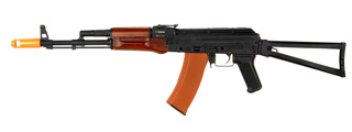 JG JG1010 AKS-74 AEG Metal Gear, Electric Blow Back System, Full Metal Body, Metal Folding Stock, Real Wood Foregrip