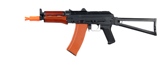JG JG1011 AKS-74U AEG Metal Gear, Electric Blow Back System, Full Metal Body, Metal Folding Stock, Real Wood Foregrip