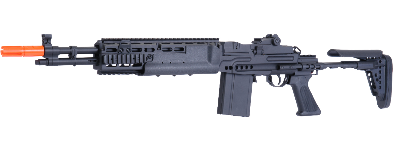 JG AIRSOFT M14 EBR AEG FULL METAL W/ ADJUSTABLE STOCK - BLACK - Click Image to Close