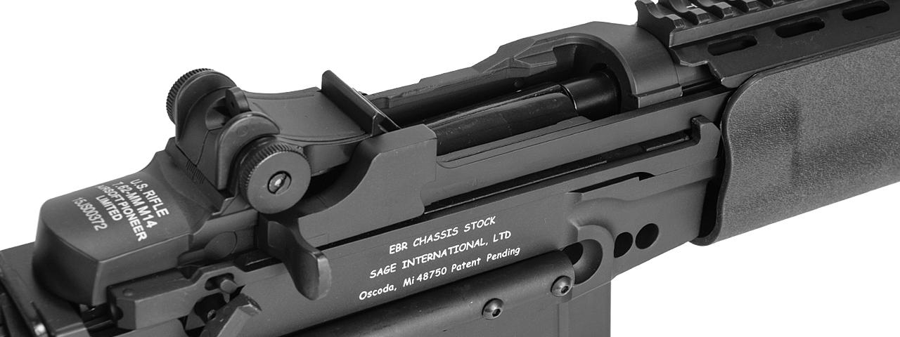 JG AIRSOFT M14 EBR AEG FULL METAL W/ ADJUSTABLE STOCK