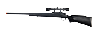 UK ARMS AIRSOFT M70 BOLT ACTION RIFLE W/ SCOPE - BLACK