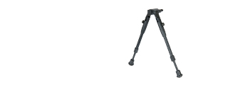 "Double Eagle LA23 11"" Short Retractable Bipod - Harris Mount"