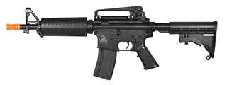 Lancer Tactical LT-01BL M4 Commando CQB Field Ready Version ( 350 FPS ) AEG Metal Gear, ABS Body, Adjustable LE Stock, Removable Carry Handle