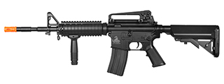 Lancer Tactical LT-04B M4A1 RIS AEG Metal Gear, ABS Body, Adjustable Crane Stock, Rail Covers, Vertical Foregrip