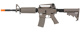 Lancer Tactical LT-06T M4A1 Carbine AEG Metal Gear, ABS Body, Adjusable LE Stock, Dark Earth Color