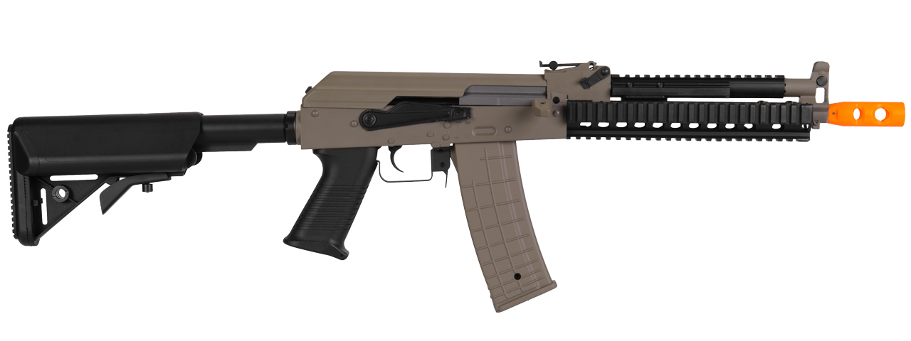 Lancer Tactical LT-10T Beta Project Tactical AK RIS AEG Metal Gear/Polymer Body in Dark Earth
