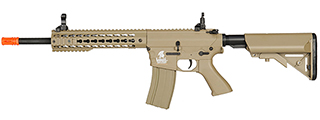 LT-12TK M4 KEYMOD 10 INCH AEG METAL GEAR (COLOR: TAN)