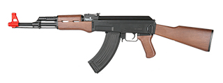 LT-16D AK-47 AEG METAL GEAR w/FULL STOCK (COLOR: BLACK & WOOD)