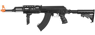 LT-16E TACTICAL AK-47 AEG METAL GEAR w/RETRACTABLE LE STOCK (COLOR: BLACK)
