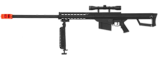 LT-20BAB-P M82 SPRING RIFLE W/ NYLON POLYMER BIPOD AND SCOPE (BLACK)