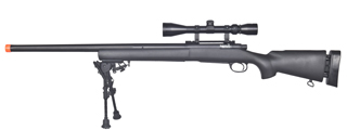 LT-28AB M24 BOLT ACTION RIFLE w/ SCOPE & BI-POD (COLOR: BLACK)