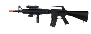 Well M16A3 Spring Rifle w/Laser, Flashlight, and Vertical Grip